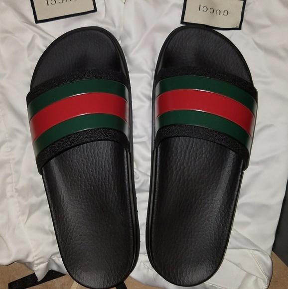 222da31a898 Gucci Shoes - Gucci Slides Web slide black men s 6 women s ...